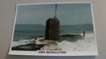 1966 HMS Resolution submarine warship framed picture